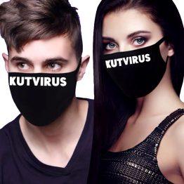 Zwart mondkapje kutvirus 2