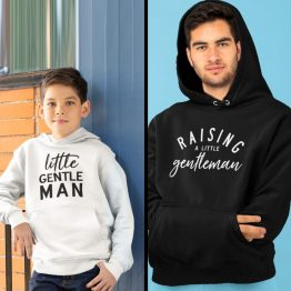 Vader Zoon Hoodies Raising A Little Gentleman 2