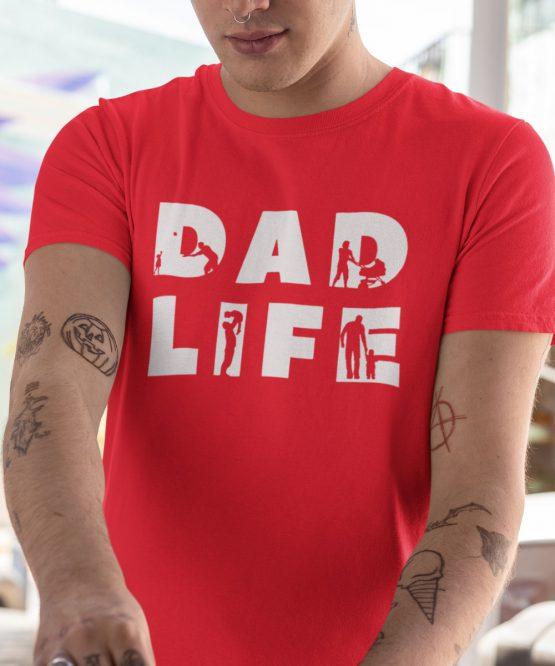 Vaderdag T-Shirt Dad Life Thic Rood