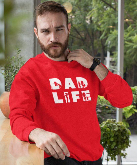 Vaderdag Trui Dad Life Thic Rood