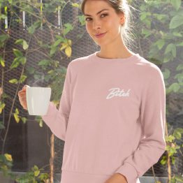 Bitch Sweater Premium Pink Chest