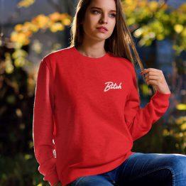 Bitch Sweater Premium Red Chest