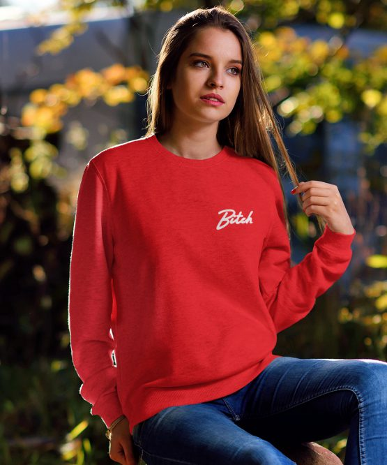 Bitch Sweater Premium Red Chest