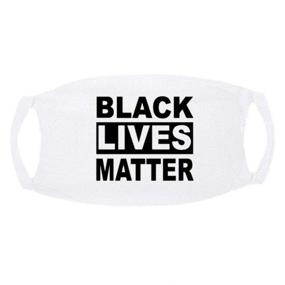 Mondkapje Black Lives Matter wit