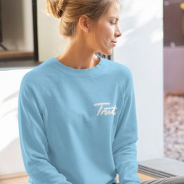 Trut Sweater Premium Sky Blue Chest