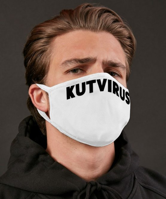 Wit mondkapje kutvirus productfoto