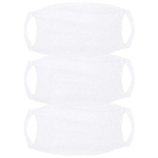 3-Pack witte Mondkapjes