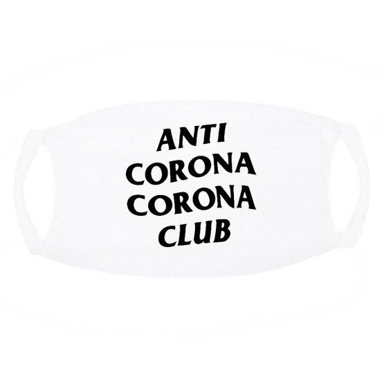 wit Mondkapje Anti Corona Club