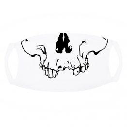 wit Mondkapje Skull