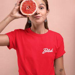 Bitch T-Shirt Premium Red Chest