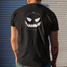 Halloween T-Shirt Pompoen Back