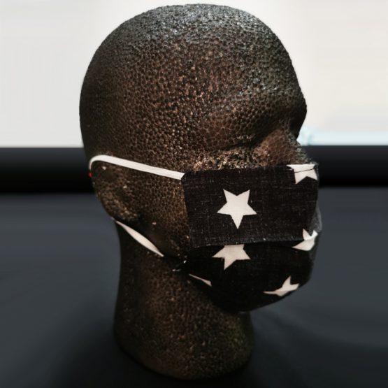 Katoenen Mondkapje Zwart Big Stars