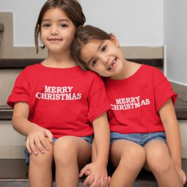 Kerst T-Shirt Merry Christmas 2 Kind