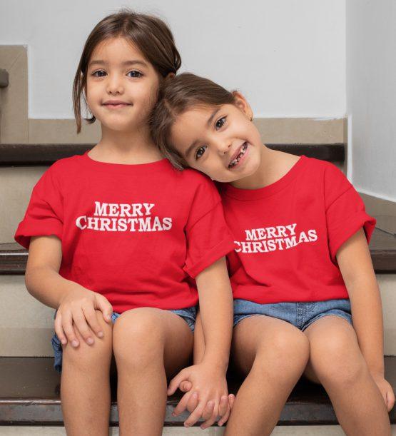 Kerst T-Shirt Merry Christmas 2 Kind