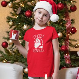 Kerst T-Shirt Team Santa Kind