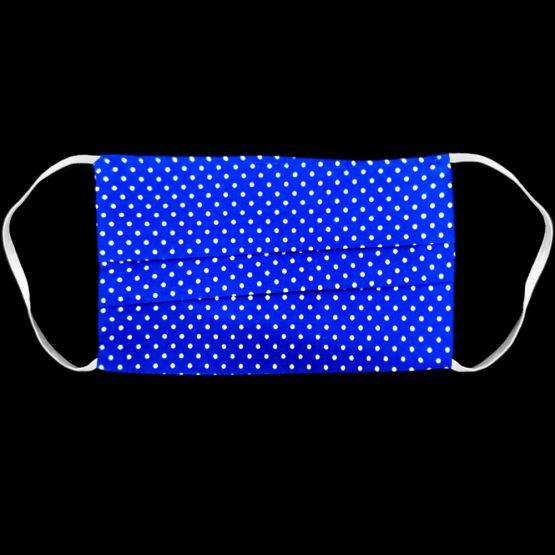 Katoenen Mondkapje Blauw Met Stippen