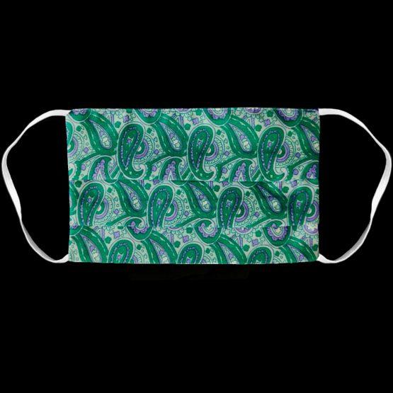 Katoenen Mondkapje Paisley Green