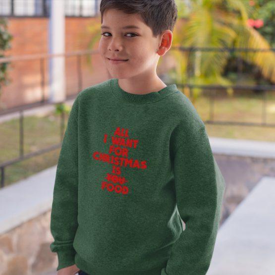 Groene Kersttrui Kind All I want