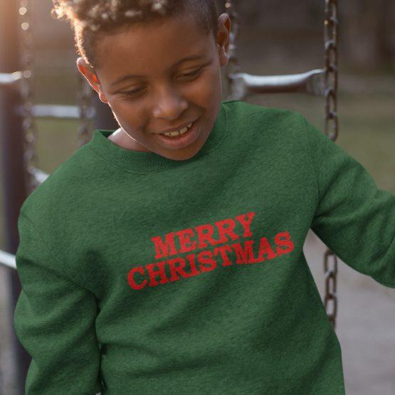 Groene Kersttrui Kind Merry Christmas