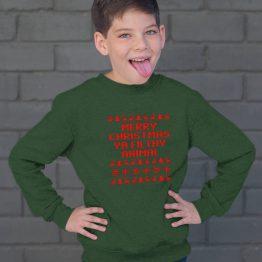 Groene Kersttrui Kind Merry Christmas Ya Filthy Animal