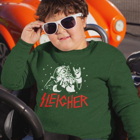Groene Kersttrui Kind Sleigher Nu