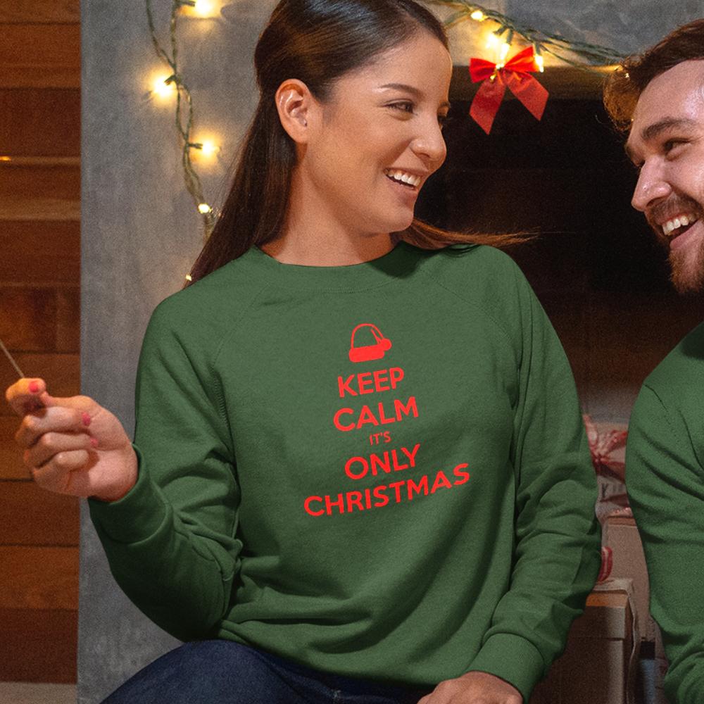 Groene Kersttrui Premium Keep Calm It's Only Christmas