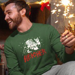 Groene Kersttrui Premium Sleigher