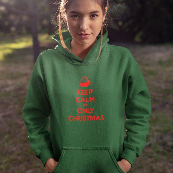 Kerst Hoodie Keep Calm Premium
