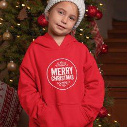 Kerst Hoodie Kind Merry Christmas