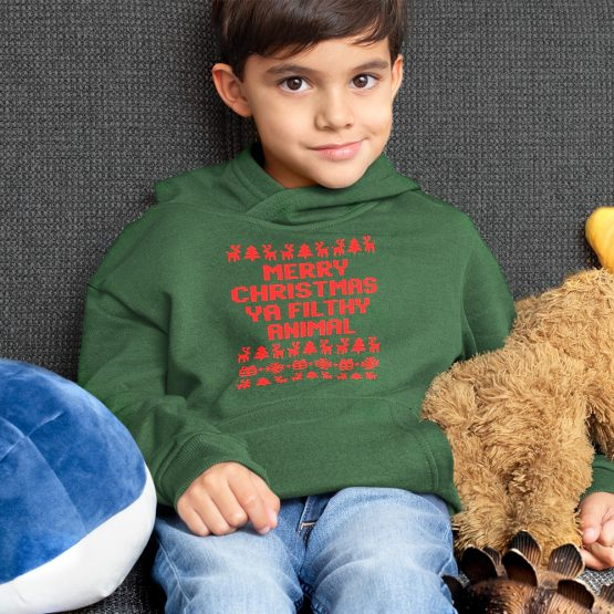Kerst Hoodie Kind Ya Filthy Animal 4