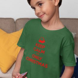 Kerst T-Shirt Kind Premium Keep Calm