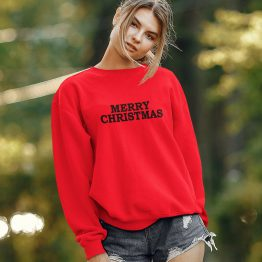 Rode Kersttrui Merry Christmas 2 Black