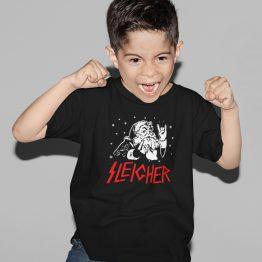 Zwart Kerst T-Shirt Kind Premium Sleigher