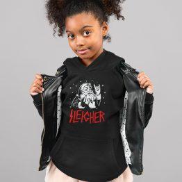 Zwarte Kerst Hoodie Kind Premium Sleigher 2