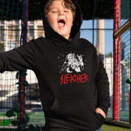 Zwarte Kerst Hoodie Kind Premium Sleigher