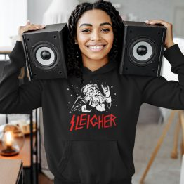 Zwarte Kerst Hoodie Premium Sleigher 2