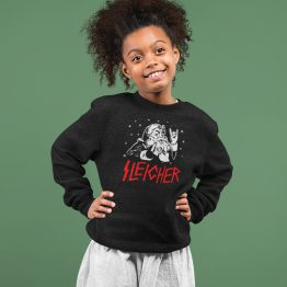 Zwarte Kersttrui Kind Premium Sleigher
