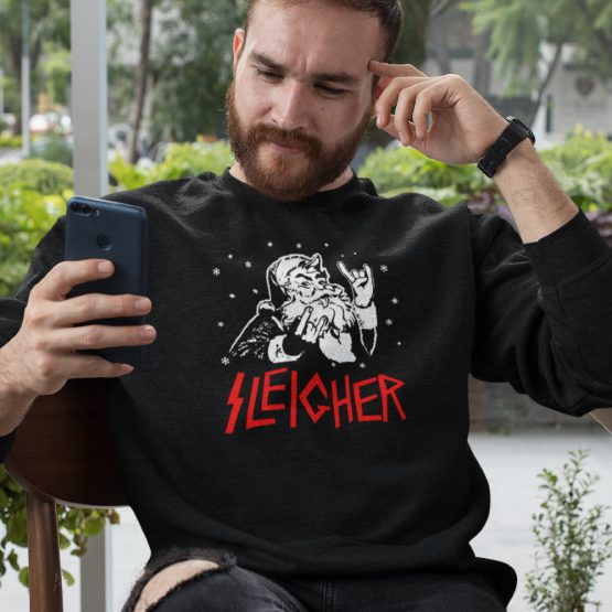 Zwarte Kersttrui Premium Sleigher 2
