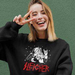 Zwarte Kersttrui Premium Sleigher