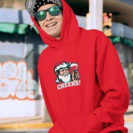 Foute Kerst Hoodie Rood Cheers