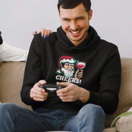 Foute Kerst Hoodie Zwart Cheers