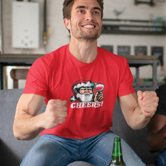 Foute Kerst T-Shirt Rood Cheers