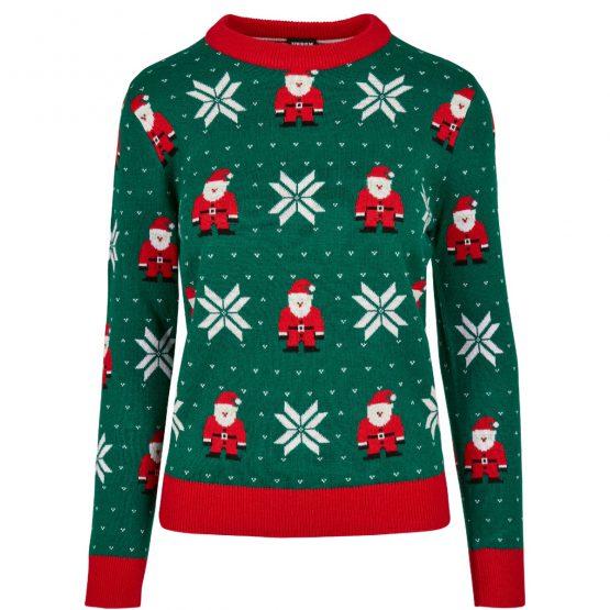Foute Kersttrui Dames Groen Kerstman Productfoto