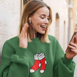 Foute Kersttrui Groen Christmas Socks