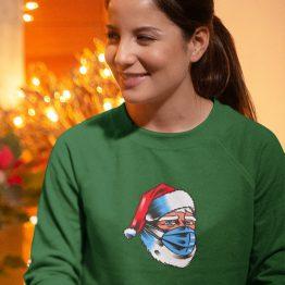 Foute Kersttrui Groen Corona Kerstman