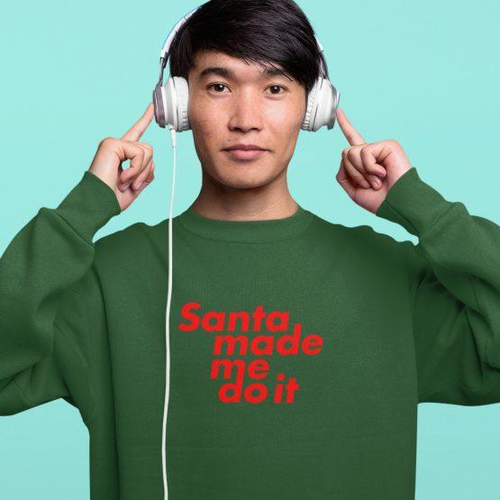Foute Kersttrui Groen Santa Made Me Do It 2