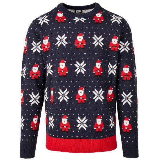 Foute Kersttrui Heren Blauw Kerstman Productfoto