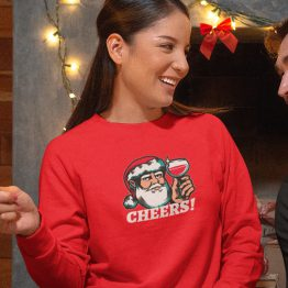 Foute Kersttrui Rood Cheers