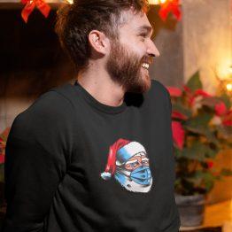 Foute Kersttrui Zwart Corona Kerstman