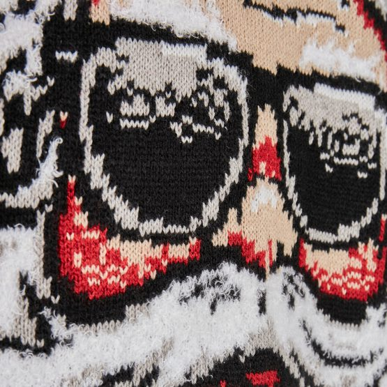 Foute Kersttrui Zwart Yo Ho Ho Detail 2